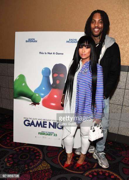 "Personality Tammy Rivera and rapper Waka Flocka attend ""Game Night"" Atlanta screening at Regal Atlantic Station on February 20, 2018 in Atlanta,..."