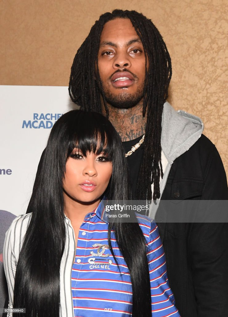 TV personality Tammy Rivera and rapper Waka Flocka attend 'Game Night' Atlanta screening at Regal Atlantic Station on February 20, 2018 in Atlanta, Georgia.