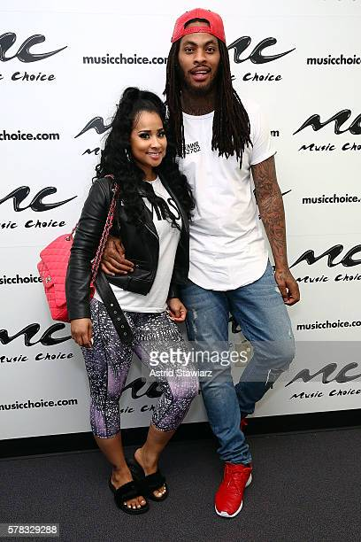 TV personality Tammy Rivera and rapper Waka Flocka visit Music Choice on July 21 2016 in New York City
