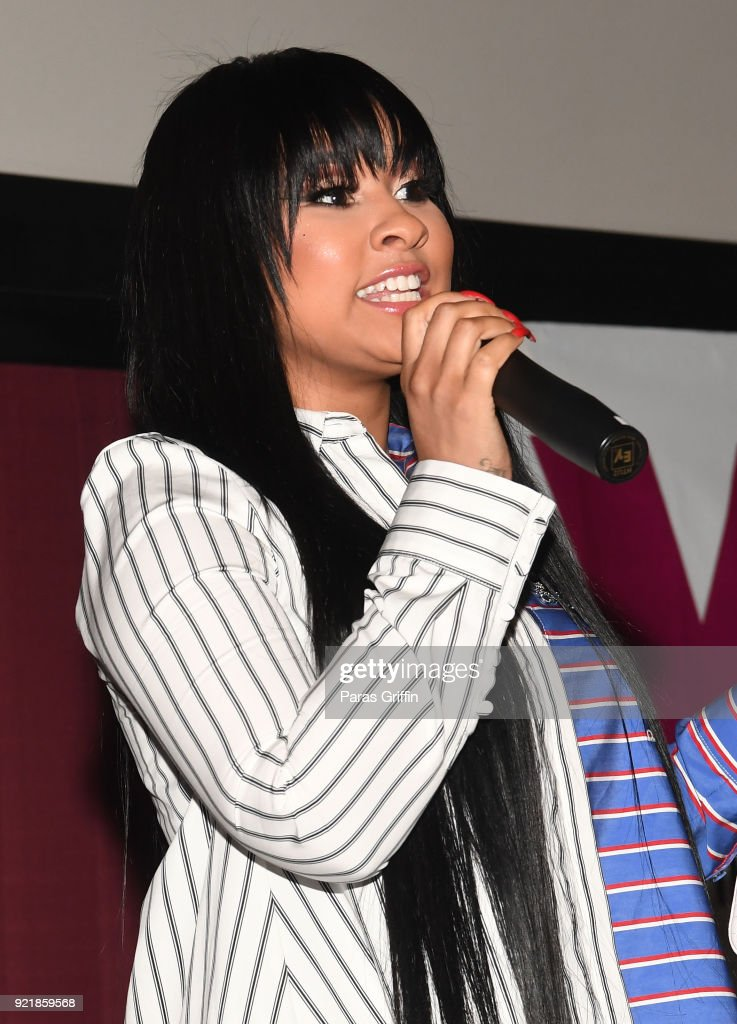 TV personality Tammy Rivera speaks onstage at 'Game Night' Atlanta screening at Regal Atlantic Station on February 20, 2018 in Atlanta, Georgia.