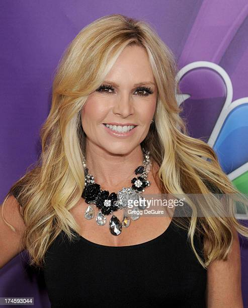 TV personality Tamra Barney arrives at the 2013 NBC Television Critics Association's Summer Press Tour at The Beverly Hilton Hotel on July 27 2013 in...