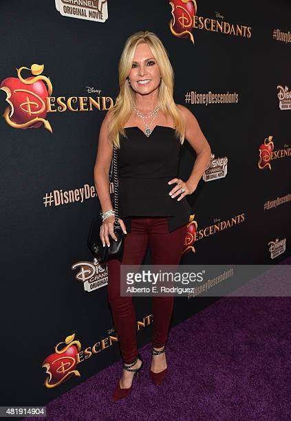 TV personality Tamra Barney attends the premiere of Disney Channel's Descendants at Walt Disney Studios on July 24 2015 in Burbank California