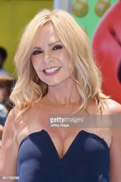 TV personality Tamra Judge arrives at the Premiere Of Columbia Pictures And Sony Pictures Animation's 'The Emoji Movie' at Regency Village Theatre on...