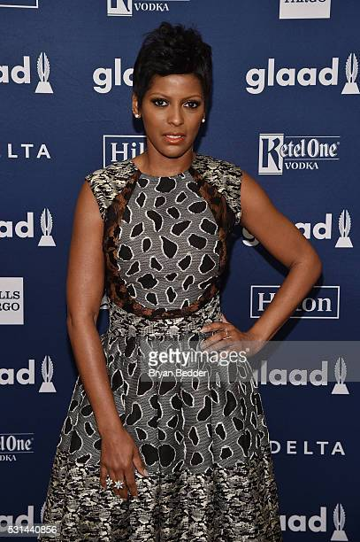 TV personality Tamron Hall attends the 27th Annual GLAAD Media Awards in New York on May 14 2016 in New York City
