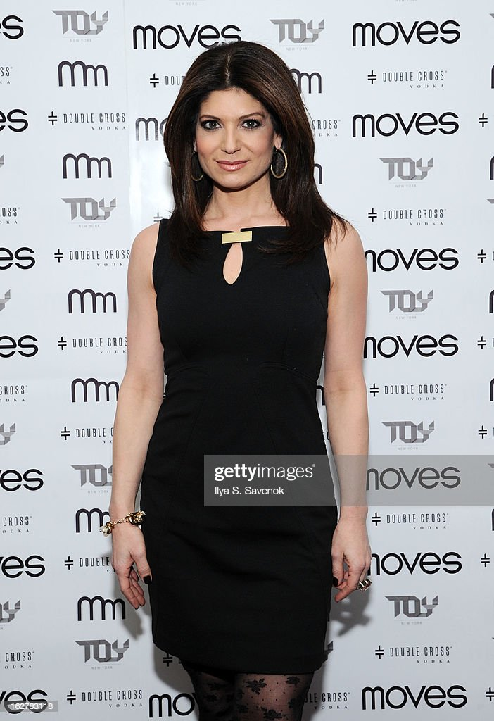 TV personality Tamsen Fada attends the Moves' 2013 Spring Fashion Issue Mens Cover Party at TOY at Gansevoort Hotel on February 26, 2013 in New York City.