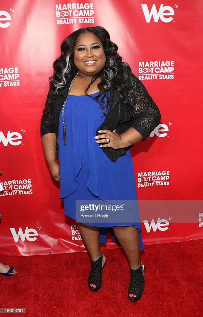 TV personality Tanisha Thomas attends the 'Marriage Boot Camp: Reality Stars' event at Catch Rooftop on May 29, 2014 in New York City.