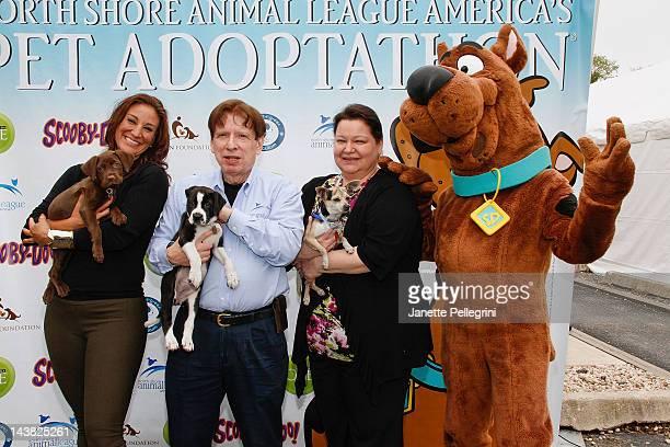 HGTV Personality Tanya Marchiol Noth Shore Animal League America President John Stevenson Senior VP of Operations Joanne Yohannan and Pet Ambassador...