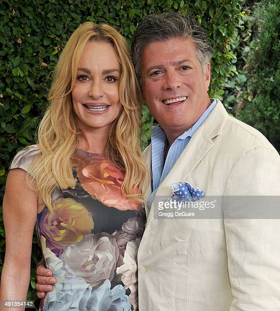 TV personality Taylor Armstrong and husband John Bluher arrive at The Rape Foundation's Annual Brunch at Greenacres The Private Estate of Ron Burkle...