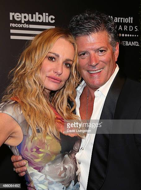 TV personality Taylor Armstrong and husband John H Bluher attend Republic Records private postVMA celebration at Ysabel on August 30 2015 in West...