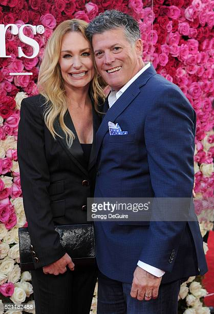 TV personality Taylor Armstrong and John Bluher arrive at the Open Roads World Premiere Of Mother's Day at TCL Chinese Theatre IMAX on April 13 2016...