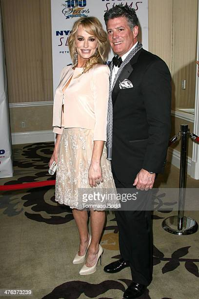 TV personality Taylor Armstrong and John Bluher attend the Norby Walters' 24nd annual Night Of 100 Stars Oscar viewing gala held at the Beverly Hills...