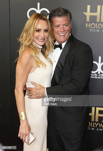 TV personality Taylor Armstrong and John H Bluher attend the 19th Annual Hollywood Film Awards at The Beverly Hilton Hotel on November 1 2015 in...