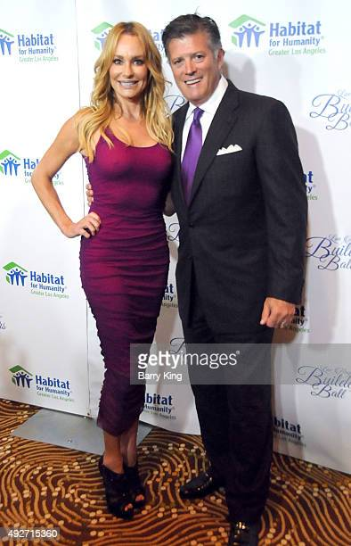 TV personality Taylor Armstrong and John H Bluher attend the Habitat For Humanity Of Greater Los Angeles Builders Ball at the Beverly Wilshire Four...
