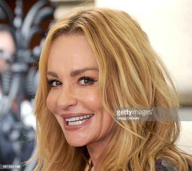 TV personality Taylor Armstrong arrives at The Rape Foundation's Annual Brunch at Greenacres The Private Estate of Ron Burkle on October 4 2015 in...