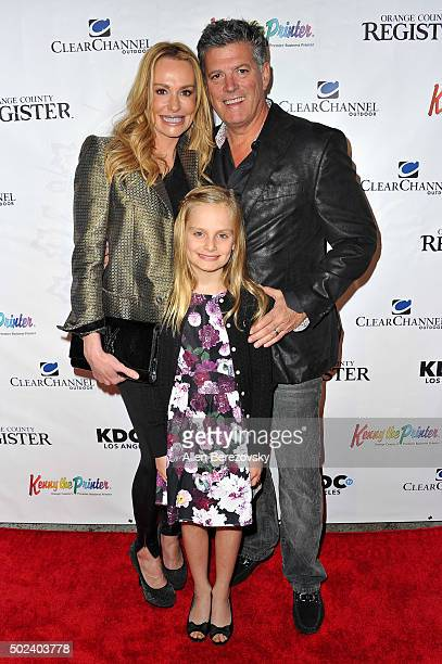 TV personality Taylor Armstrong husband John H Bluher and daughter Kennedy Armstrong attend the OC Christmas Extravaganza Concert and Ball at Christ...