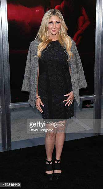 TV personality TaylorAnn Hasselhoff attends the premiere of New Line Cinema's The Gallows at Hollywood High School on July 7 2015 in Los Angeles...
