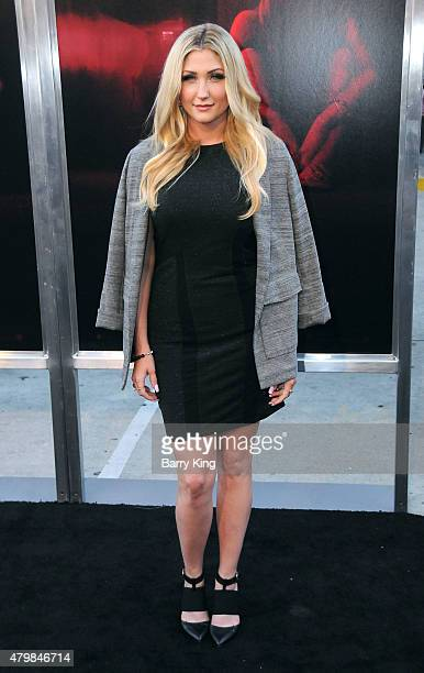 TV personality TaylorAnn Hasselhoff attends the Premiere Of New Line Cinema's 'The Gallows' at Hollywood High School on July 7 2015 in Los Angeles...