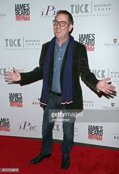 """Personality Ted Allen attends the """"James Beard: America's First Foodie"""" NYC premiere at iPic Fulton Market on April 23, 2017 in New York City."""