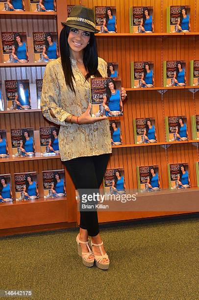TV personality Teresa Giudice promotes Fabulicious at Barnes Noble on June 16 2012 in Brick New Jersey