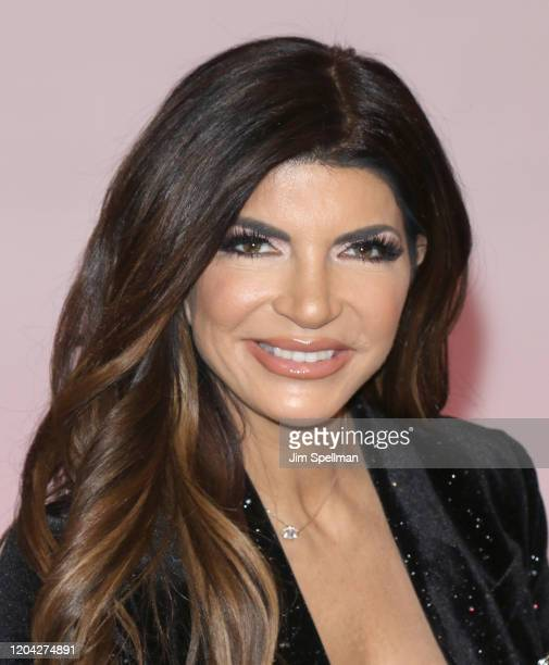 Personality Teresa Guidice visits People Now on February 05, 2020 in New York, United States.