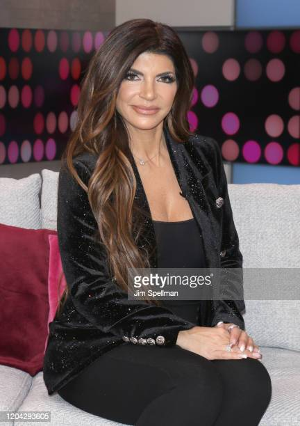 """Personality Teresa Guidice visits People's """"Reality Check"""" on February 05, 2020 in New York, United States."""