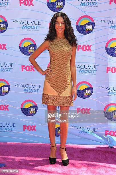 TV personality Teri Seymour arrives at the 2012 Teen Choice Awards held at the Gibson Amphitheatre in Universal City California