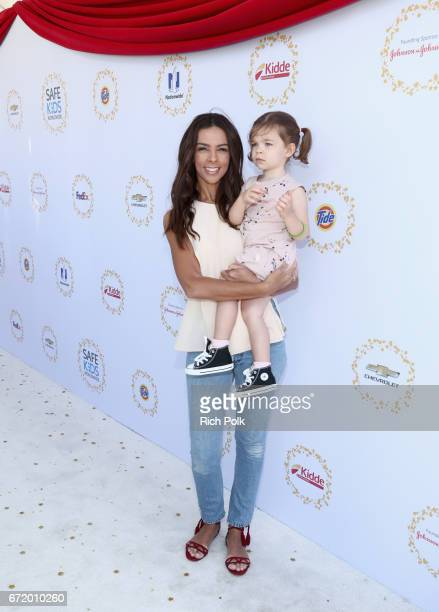 TV personality Terri Seymour and Coco SeymourMallon attend Safe Kids Day 2017 at Smashbox Studios on April 23 2017 in Culver City California
