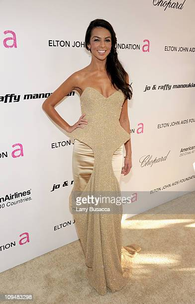 Personality Terri Seymour arrives at the 19th Annual Elton John AIDS Foundation Academy Awards Viewing Party at the Pacific Design Center on February...