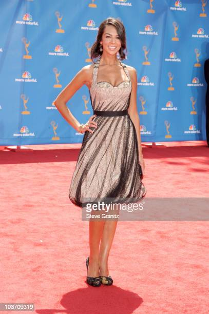 Personality Terri Seymour arrives at the 62nd Annual Primetime Emmy Awards held at the Nokia Theatre LA Live on August 29 2010 in Los Angeles...