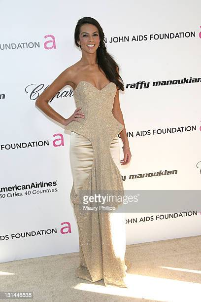 TV personality Terri Seymour attends the 19th Annual Elton John AIDS Foundation's Oscar viewing party held at the Pacific Design Center on February...
