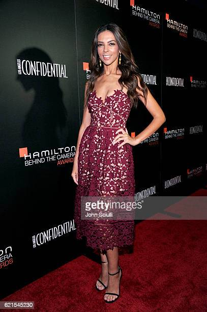 TV personality Terri Seymour attends the Hamilton Behind The Camera Awards presented by Los Angeles Confidential Magazine at Exchange LA on November...