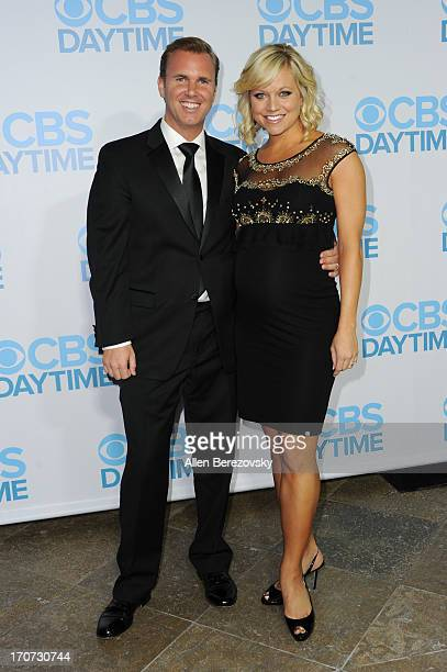 TV personality Tiffany Coyne and her husband attend the 40th Annual Daytime Entertaimment Emmy Awards after party hosted by CBS at The Beverly Hilton...