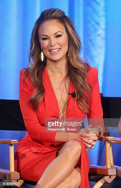 Personality Tiffany Hendra speaks onstage during the 'The Real Housewives of Dallas' panel at the 2016 NBCUniversal Summer Press Day at Four Seasons...