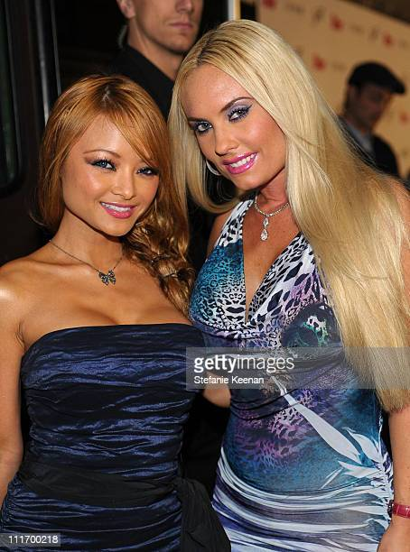 TV personality Tila Tequila and model CoCo arrives at Star Magazine's 5th anniversary celebration at Bardot on October 13 2009 in Hollywood California