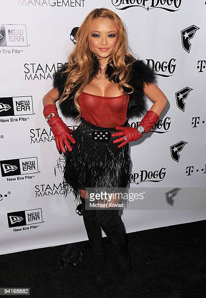 TV personality Tila Tequila arrives at the Famous Stars and Straps 10th Anniversary and Snoop Dogg 10th Album Release at Vanguard on December 8 2009...