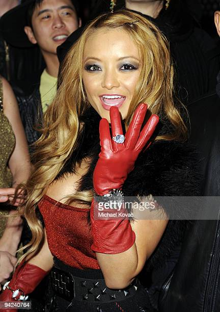 TV personality Tila Tequila shows off her new engagement ring at the Famous Stars and Straps 10th Anniversary and Snoop Dogg 10th Album Release at...