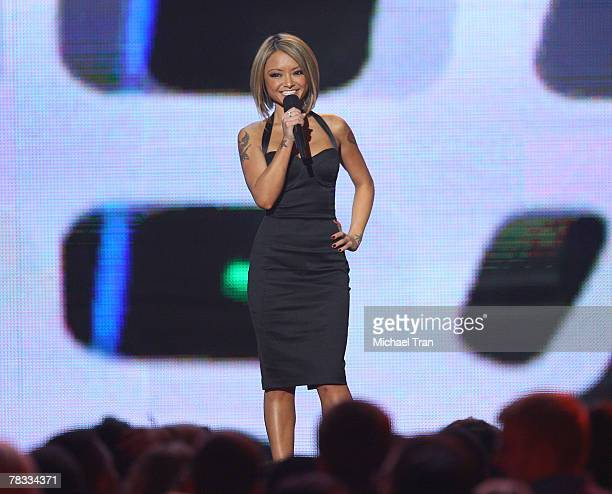 TV personality Tila Tequila speaks at Spike TV's 2007 'Video Game Awards' at the Mandalay Bay Events Center on December 7 2007 in Las Vegas Nevada