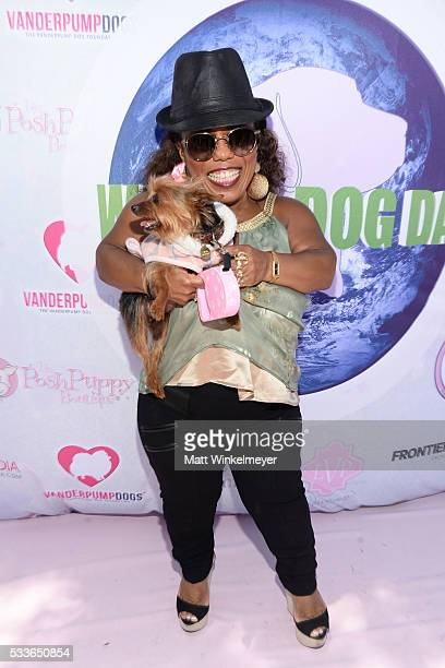Personality Tonya Banks attends the World Dog Day Celebration at The City of West Hollywood Park on May 22, 2016 in West Hollywood, California.