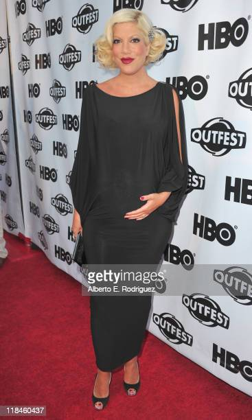 TV personality Tori Spelling arrives to the 2011 Outfest Opening Night Gala of Gun Hill Road on July 7 2011 in Los Angeles California