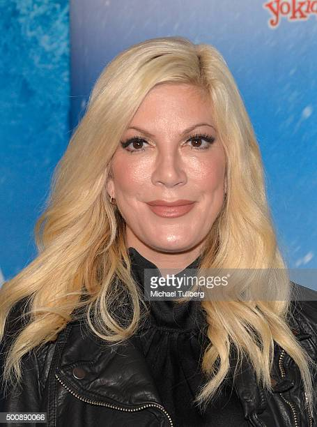TV personality Tori Spelling attends the premiere of Disney On Ice's 'Frozen' at Staples Center on December 10 2015 in Los Angeles California