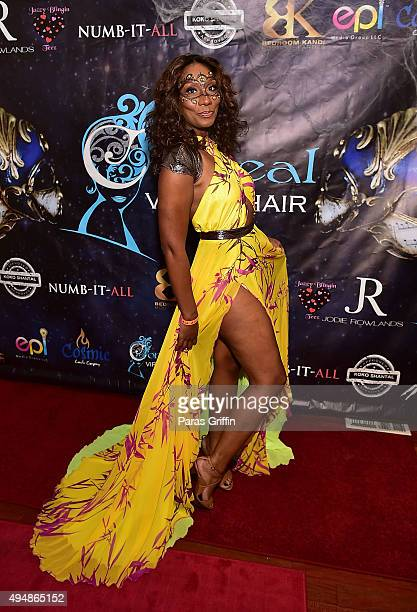 Personality Towanda Braxton attends Masquerade Launch for Conceal Virgin Hair at Time Restaurant on October 29, 2015 in Atlanta, Georgia.