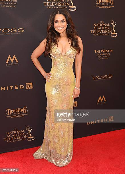 TV personality Tracey Edmonds attends the 2016 Daytime Emmy Awards Arrivals at Westin Bonaventure Hotel on May 1 2016 in Los Angeles California