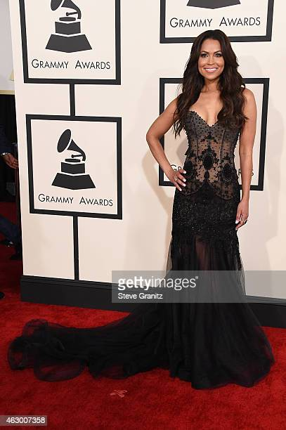 TV personality Tracey Edmonds attends The 57th Annual GRAMMY Awards at the STAPLES Center on February 8 2015 in Los Angeles California