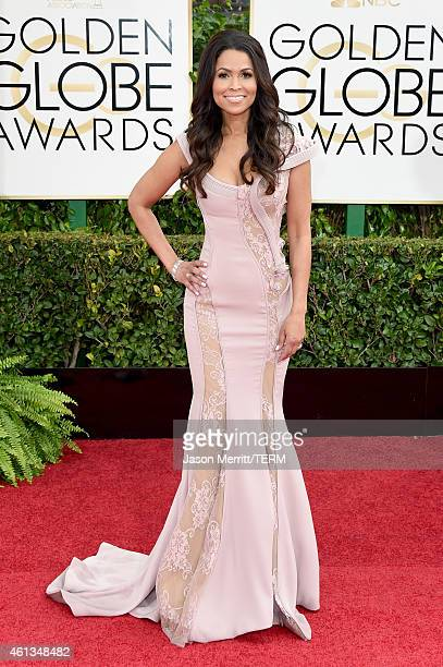 Personality Tracey Edmonds attends the 72nd Annual Golden Globe Awards at The Beverly Hilton Hotel on January 11 2015 in Beverly Hills California