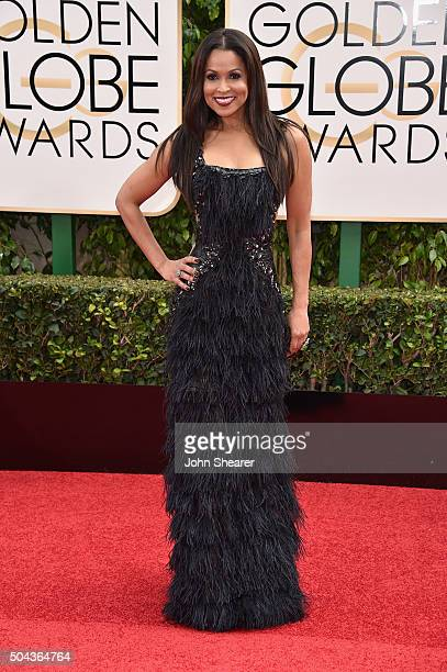 TV personality Tracey Edmonds attends the 73rd Annual Golden Globe Awards held at the Beverly Hilton Hotel on January 10 2016 in Beverly Hills...