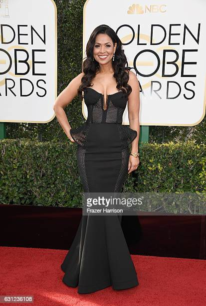 TV personality Tracey Edmonds attends the 74th Annual Golden Globe Awards at The Beverly Hilton Hotel on January 8 2017 in Beverly Hills California