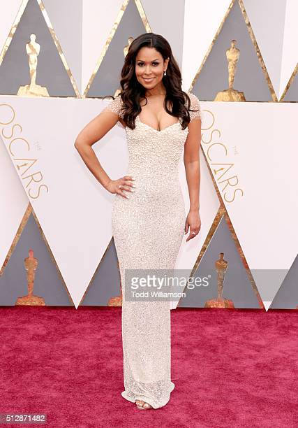 TV personality Tracey Edmonds attends the 88th Annual Academy Awards at Hollywood Highland Center on February 28 2016 in Hollywood California