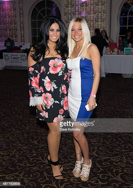 TV personality Tracy DiMarco and Jackie N Carmelo Bianchi attend the Posh Boutique fashion show at The Terrace on May 1 2014 in Paramus New Jersey
