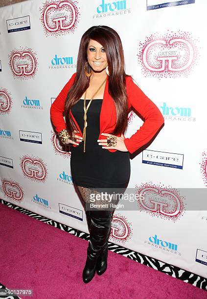 TV personality Tracy DiMarco attends the Gatsby Haircare Launch at DROM Fragrances on February 28 2012 in New York City