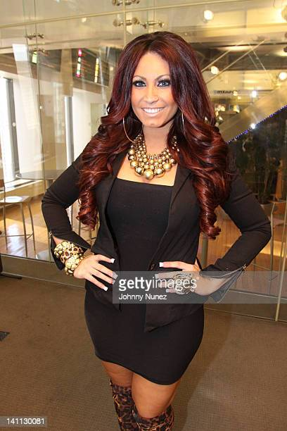 TV personality Tracy Dimarco invades The Whoolywood Shuffle at the SiriusXM Studio on March 07 2012 in New York City